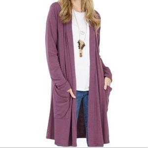 NEW Long Open Cardigan Front Pockets Size Large